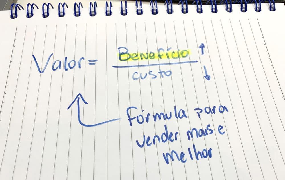 Preço ou valor - Fórmula Custo Benefício
