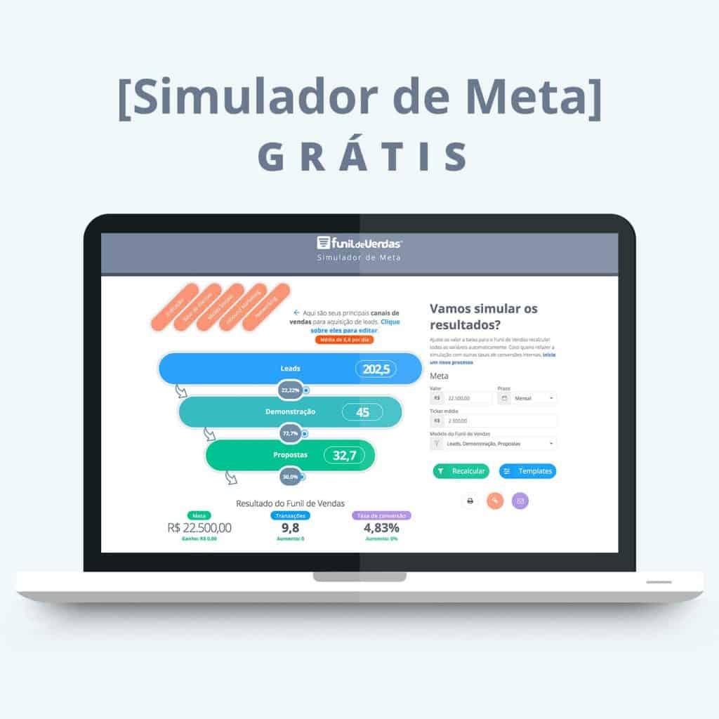 SIMULADOR DE META | FUNIL DE VENDAS