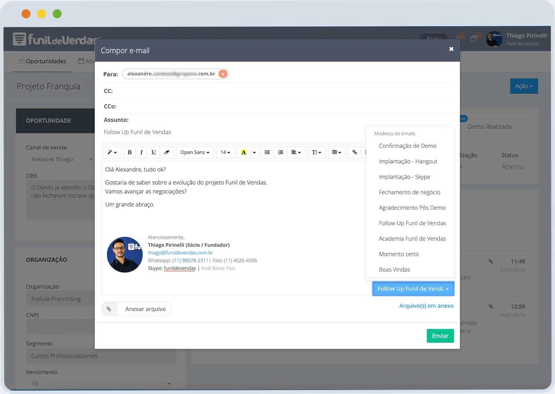 Funcionalidade_e-mail Funil de Vendas | Bata meta todo dia!