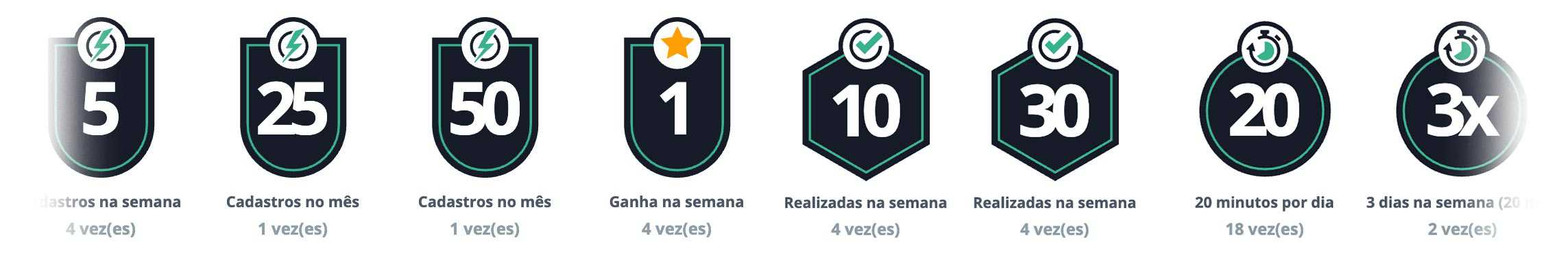 Conquistas Gamification CRM